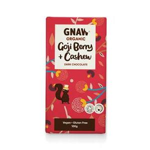 Gnaw Organic Dark Chocolate with Goji Berries & Cashew Nuts