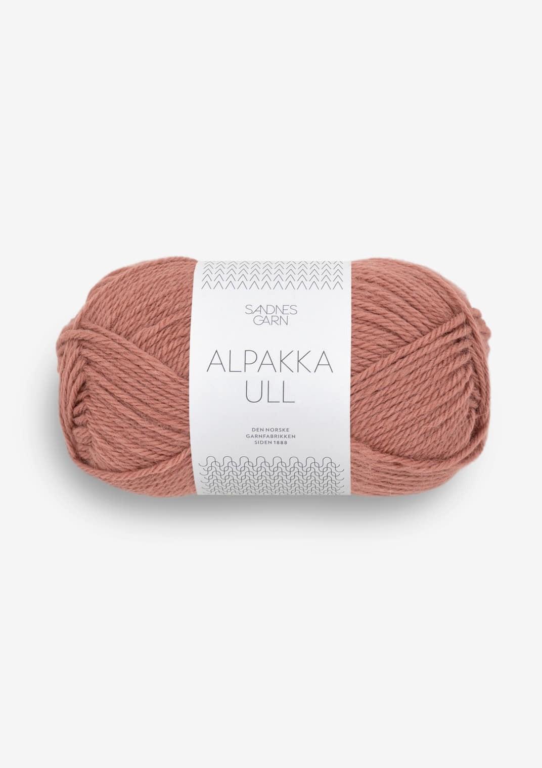 3553 Støvet plommerosa Alpakka Ull