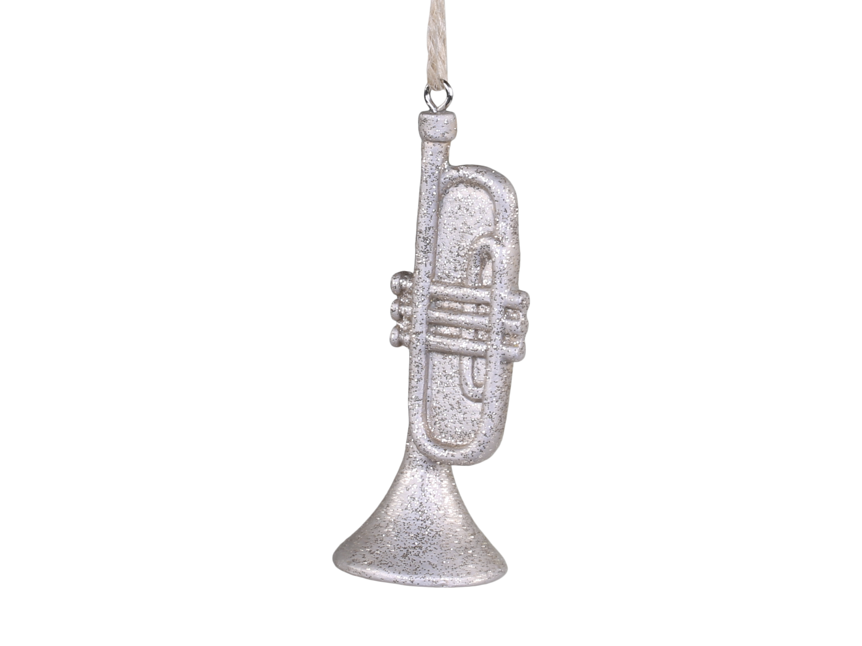 Trompet med glimmer og oppheng