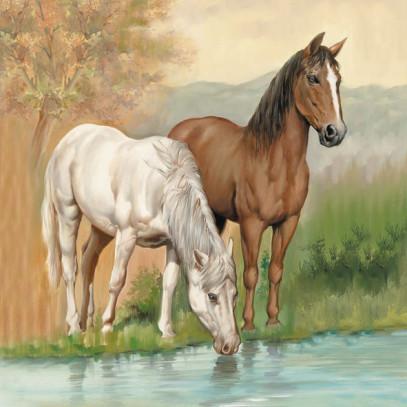 Serviett 33 Horses