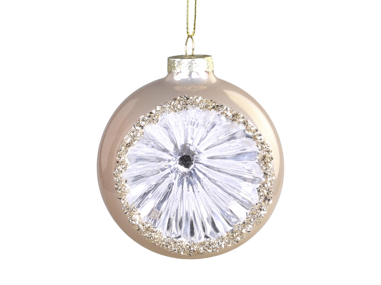Antikk Glimmer Julekule