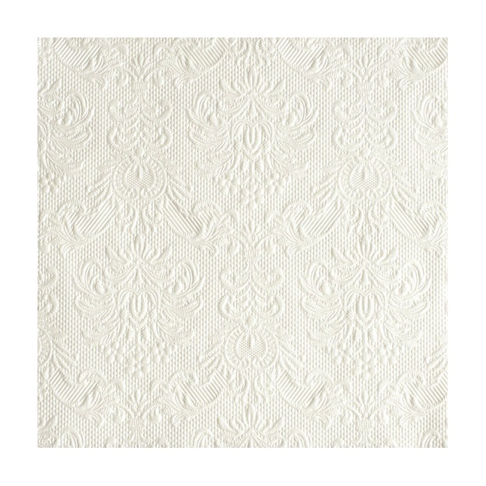 Serviett 33 Elegance Pearl White