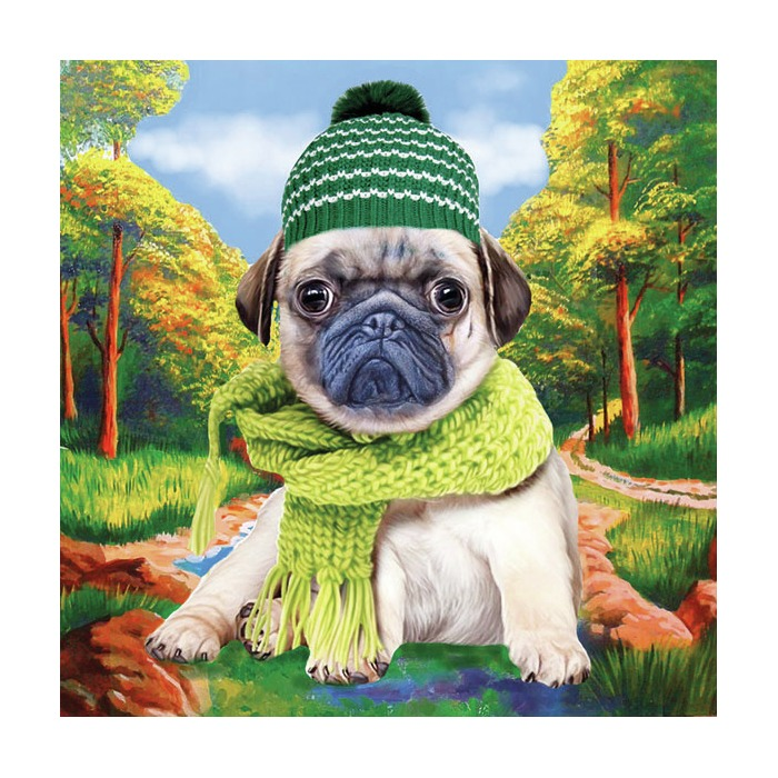 Serviett 33 Autumn Pug