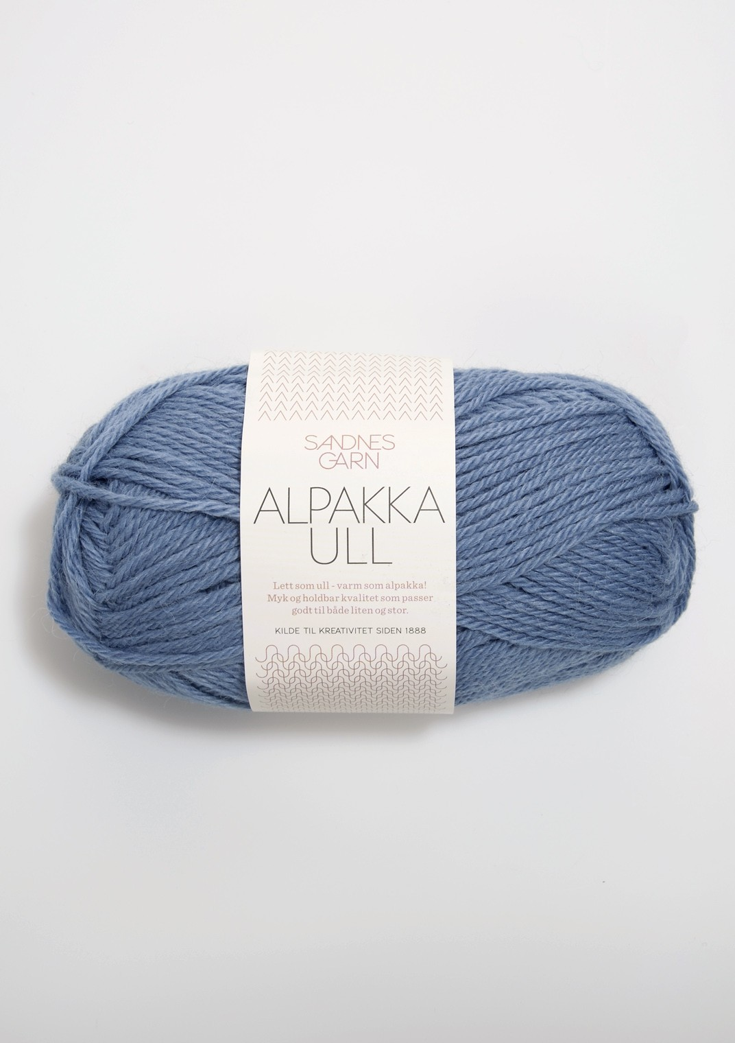 6052 Jeansblå Alpakka Ull