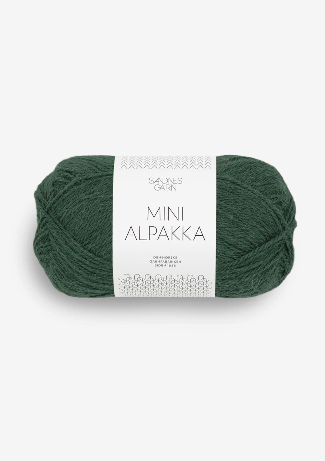 8581 Dyp Skoggrønn Mini Alpakka