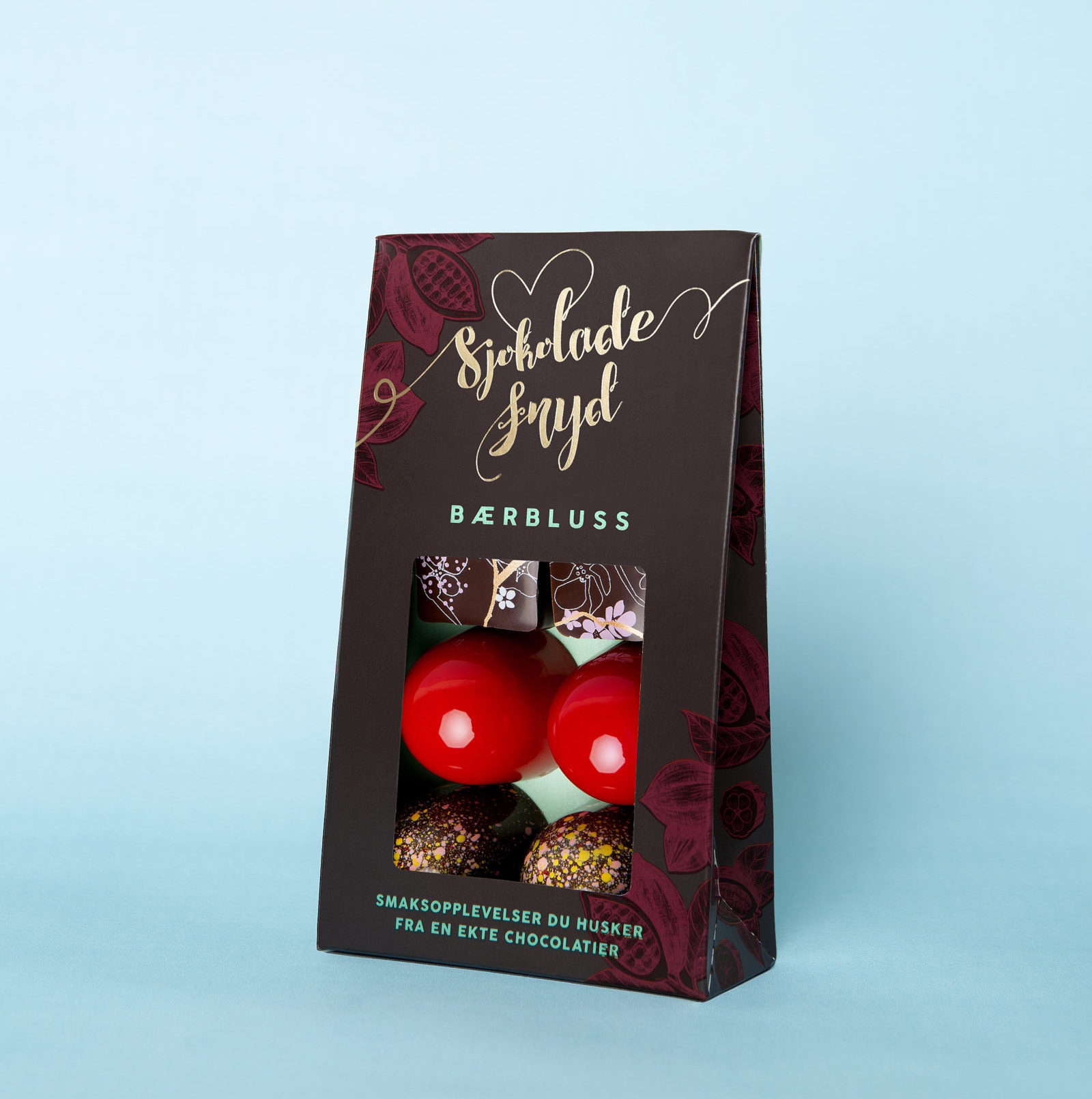 Bærbluss 6 biter Pose Sjokoladefryd