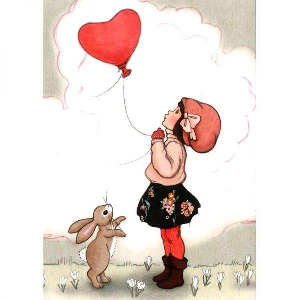 Kort Belle & Boo: Heart shaped balloon