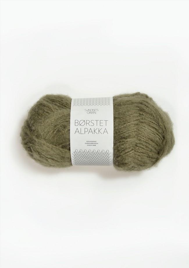 9554 Mosegrønn Børstet Alpakka