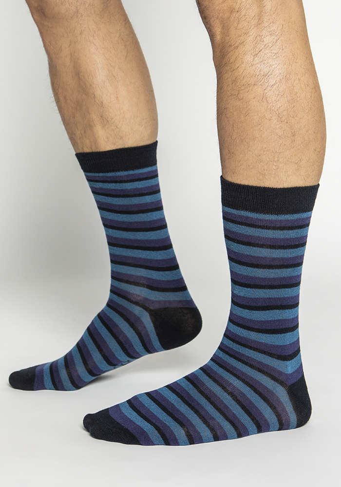 Multi-Colored Stretch Cotton Socks  (3 pairs)