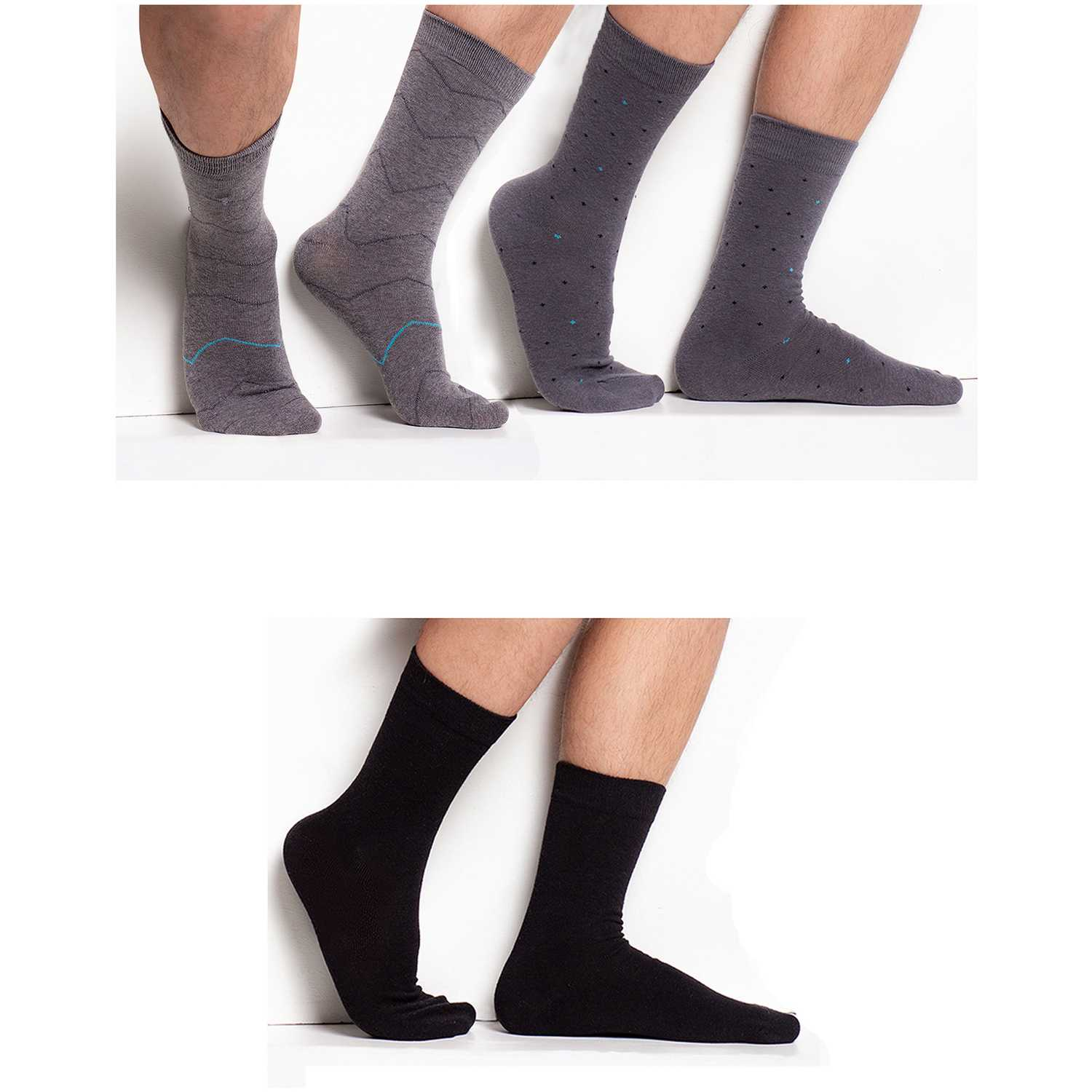 Universal  Fit Stretch Cotton Socks (3 pairs)