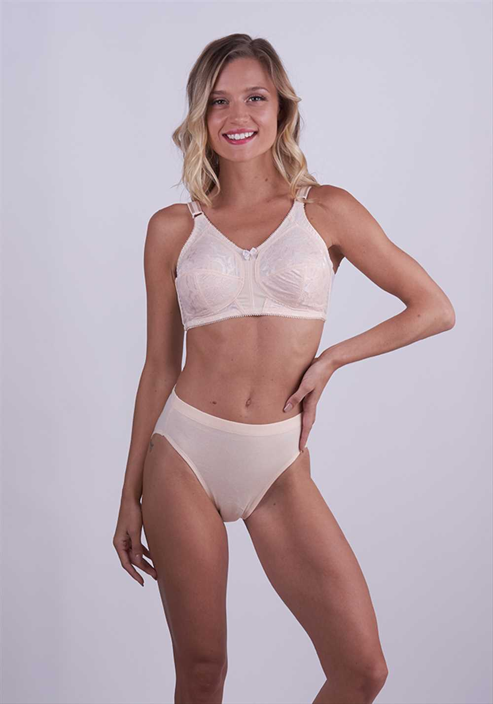 Classic MicroFiber Bra With Lace Details