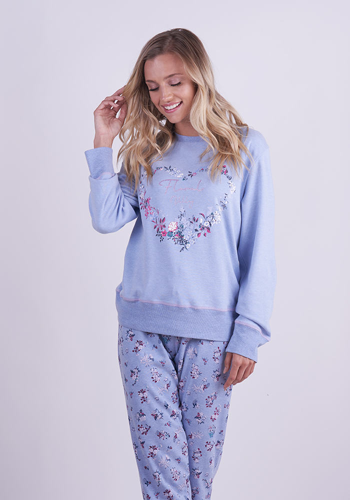Pyjama Set With Floral Pattern
