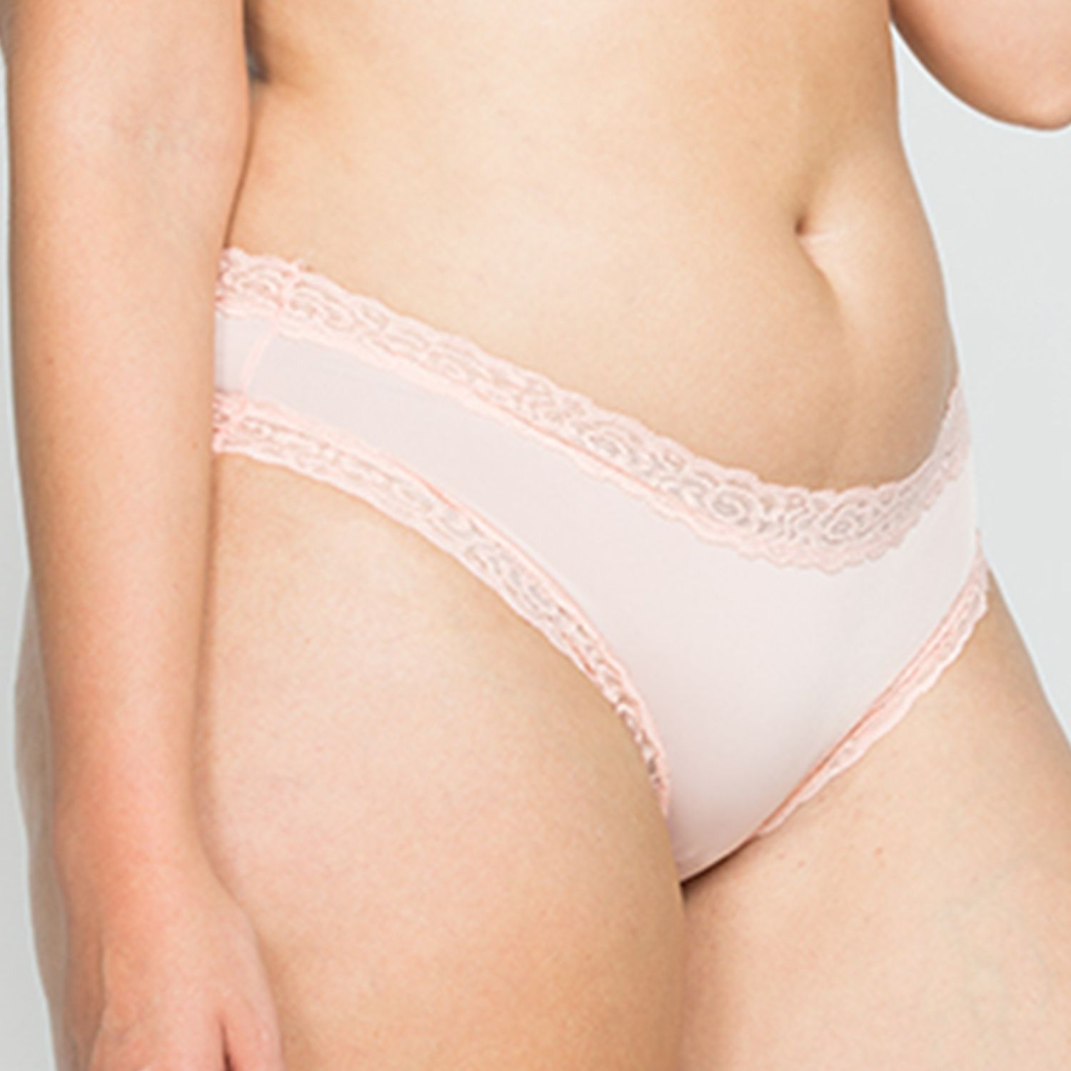 Microfiber Panty With Lace Detail