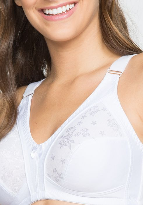 Microfiber Bra with Lace Detail