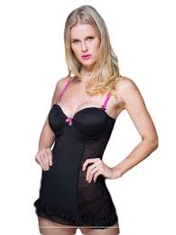 Babydoll Lingerie Set With Pink Strap