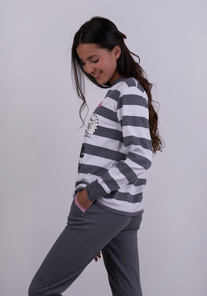 Stretch Cotton Pyjamas Pants Set