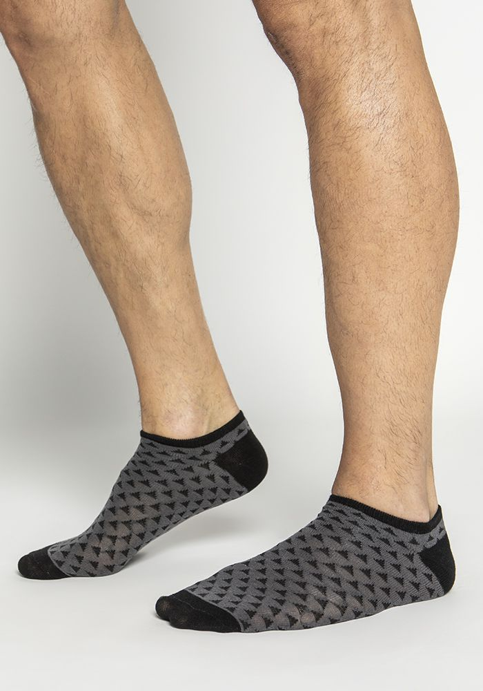 Uni-sex Ankle Socks in Stretch Cotton (3 pairs)