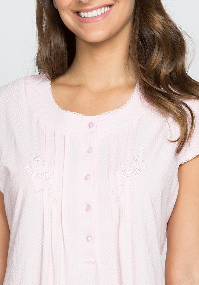 Short Sleeve Cotton Nightgown