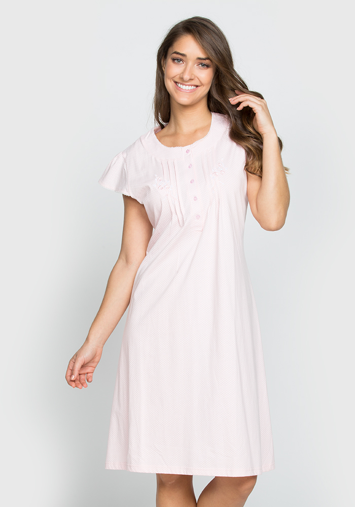 Short Sleeve Cotton Nightgown