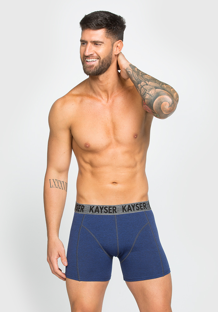 Boxer-Long in Cotton,Polyester & Elastane