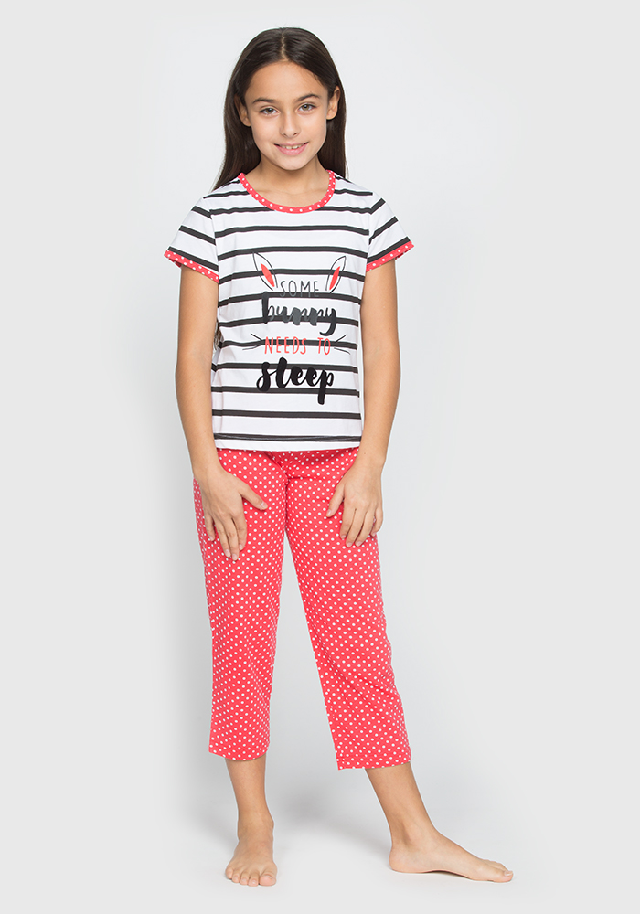 Cotton Capri Pyjamas Set