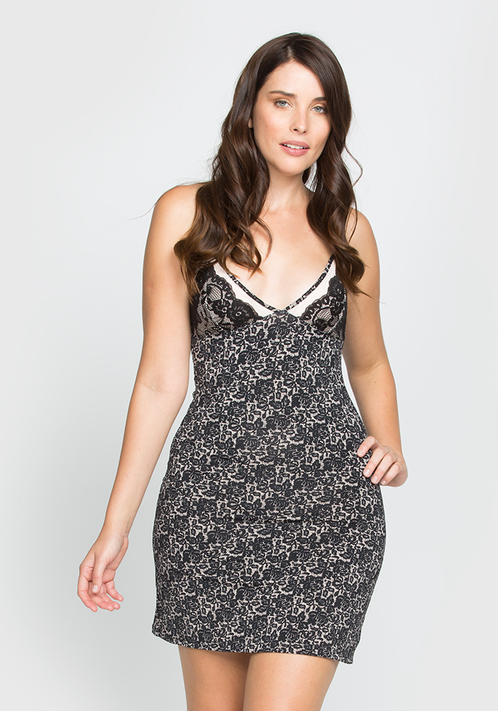 Printed MicroFiber Slip Dress
