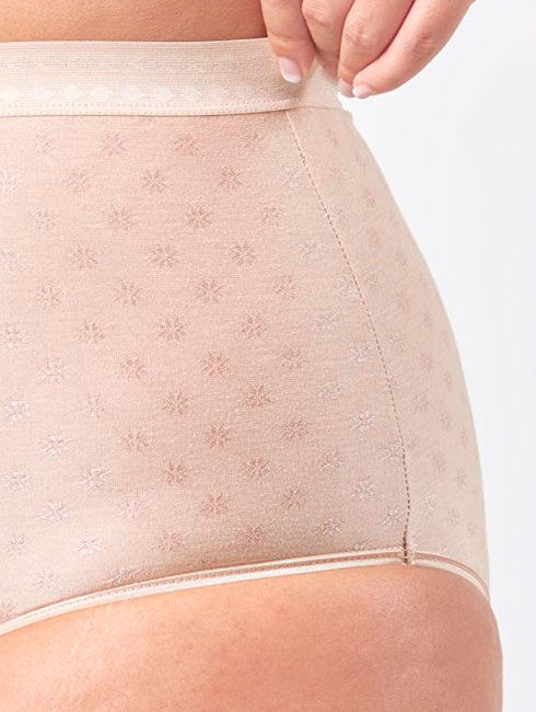 High Waist Stretch Cotton Panty With Pattern