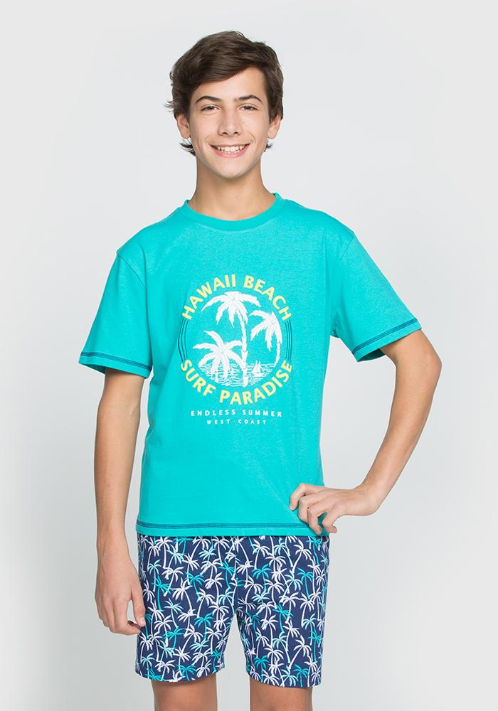 Hawaii Beach Pyjama Shorts Set