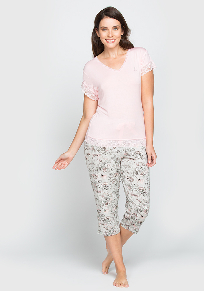 Viscose Capri Pyjama Set