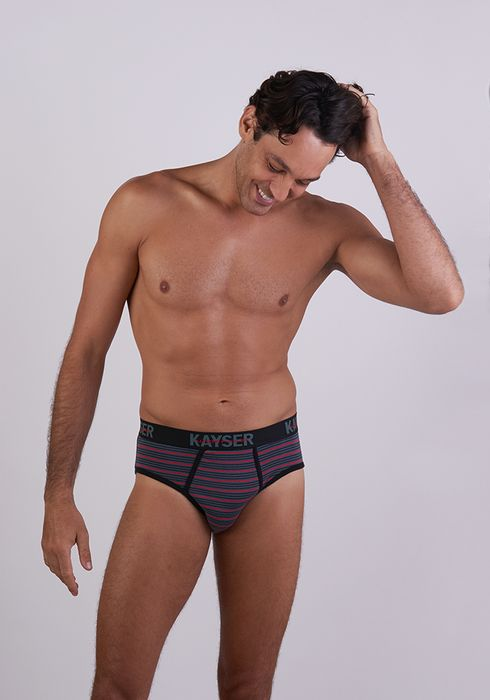 Printed Stretch Cotton Brief