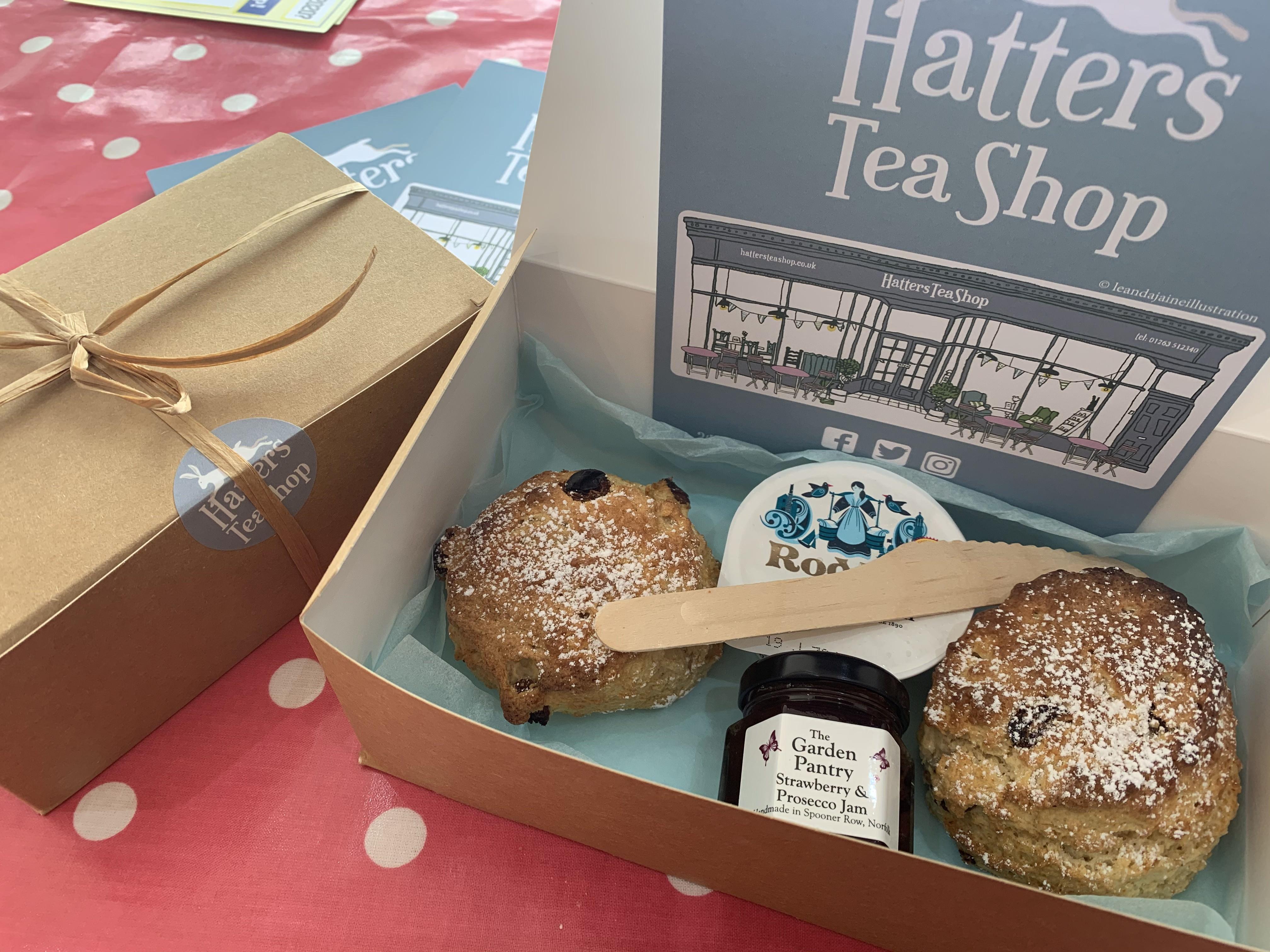 Takeaway Hatters Cream Tea