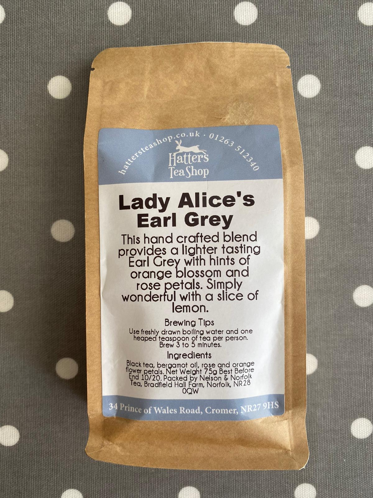 Hatters Loose Leaf Tea - Lady Alice Grey
