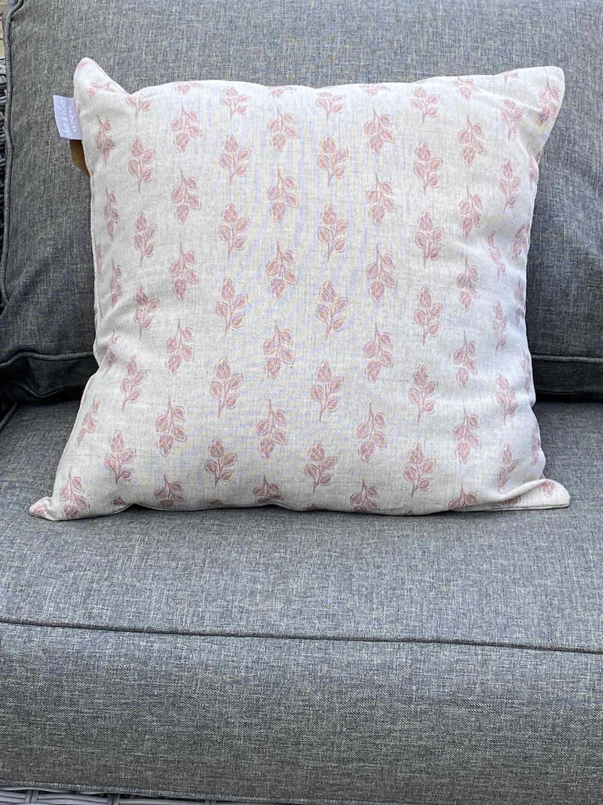 Sam Wilson Feather Cushions - Pink Flora
