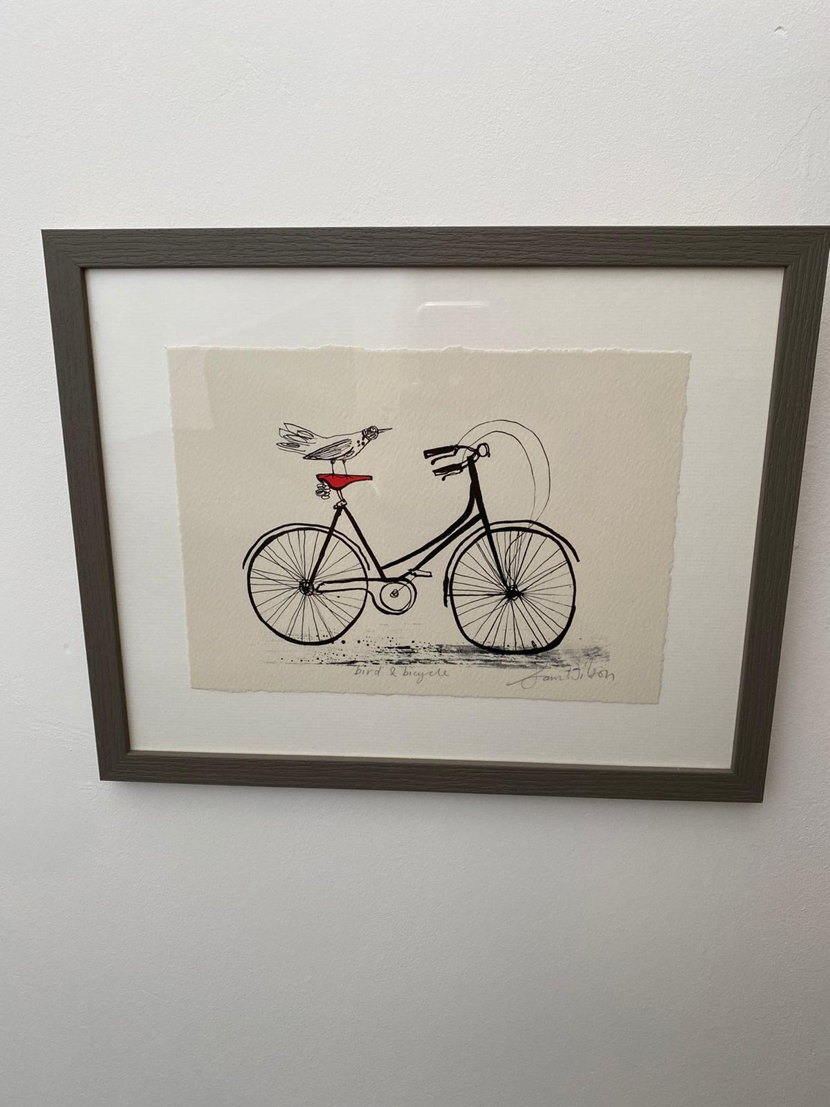 Sam Wilson Illustrations - Bird on Bike