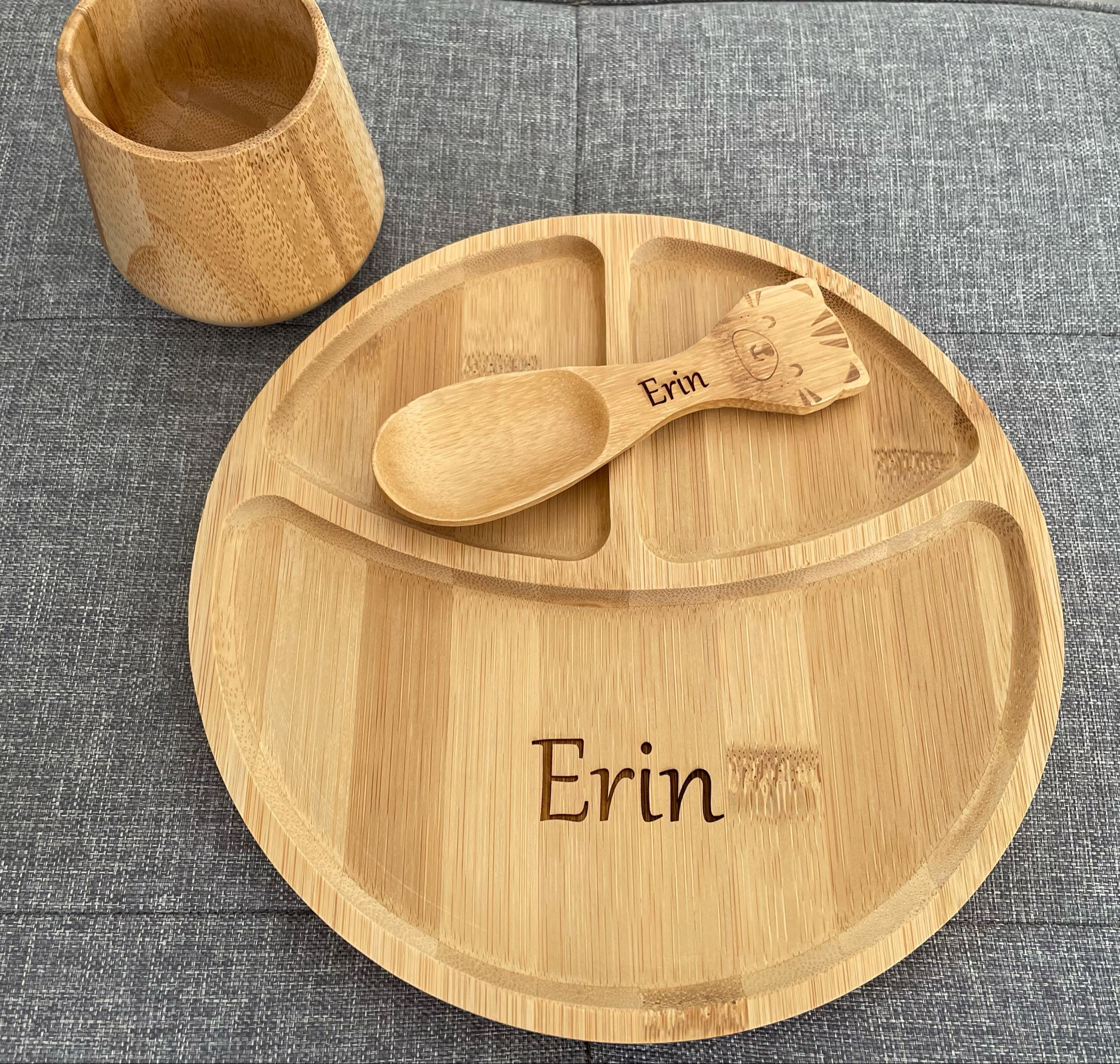 Section Bamboo Plate (can be personalised )