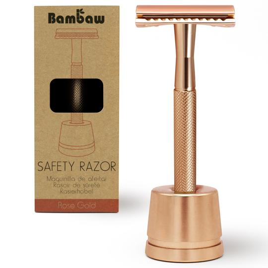 Bambaw Unisex Stainless Steel Razor with Stand