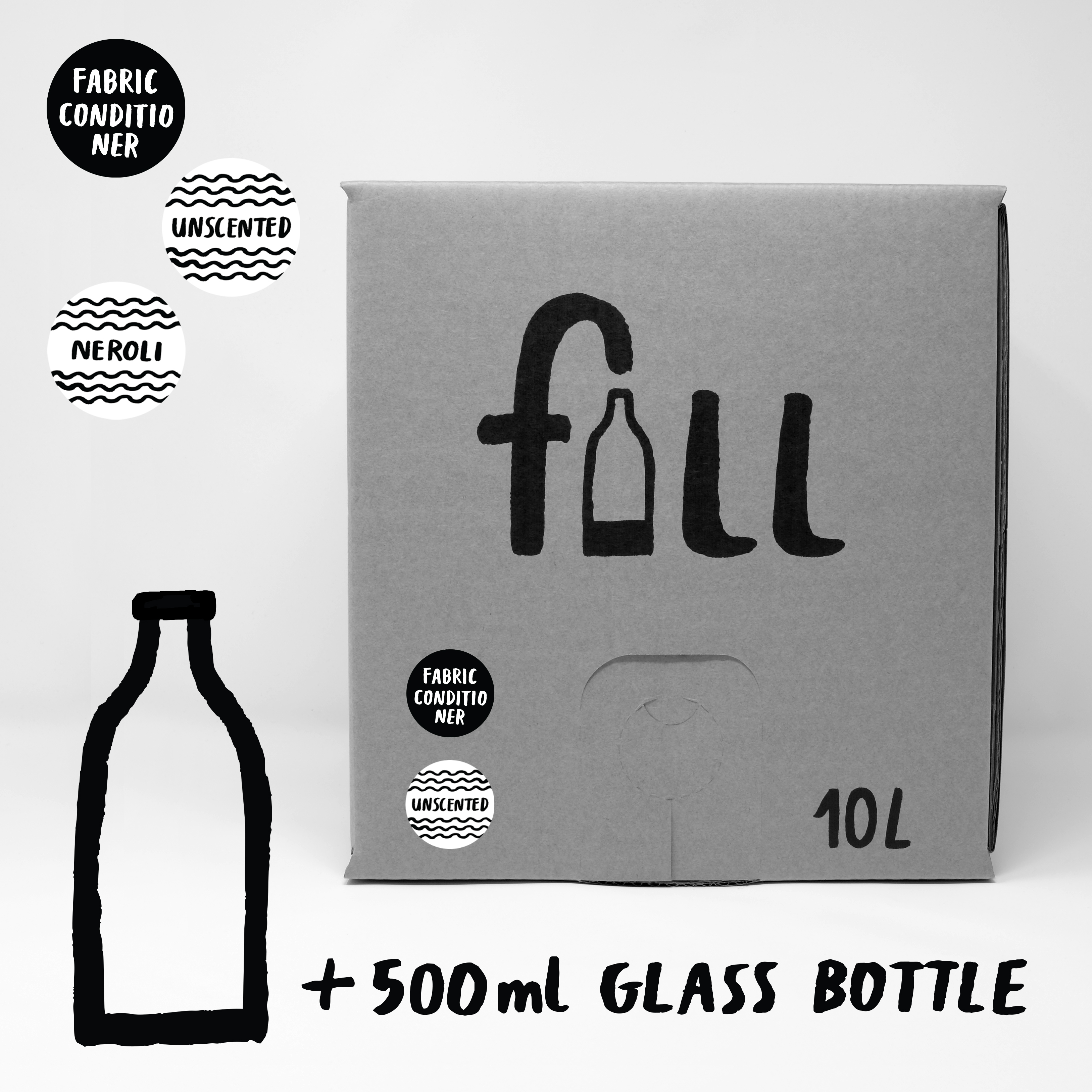 DO NOT USE Fill Refill Co Fabric Conditioner Neroli Scented - 500ml Full Bottle