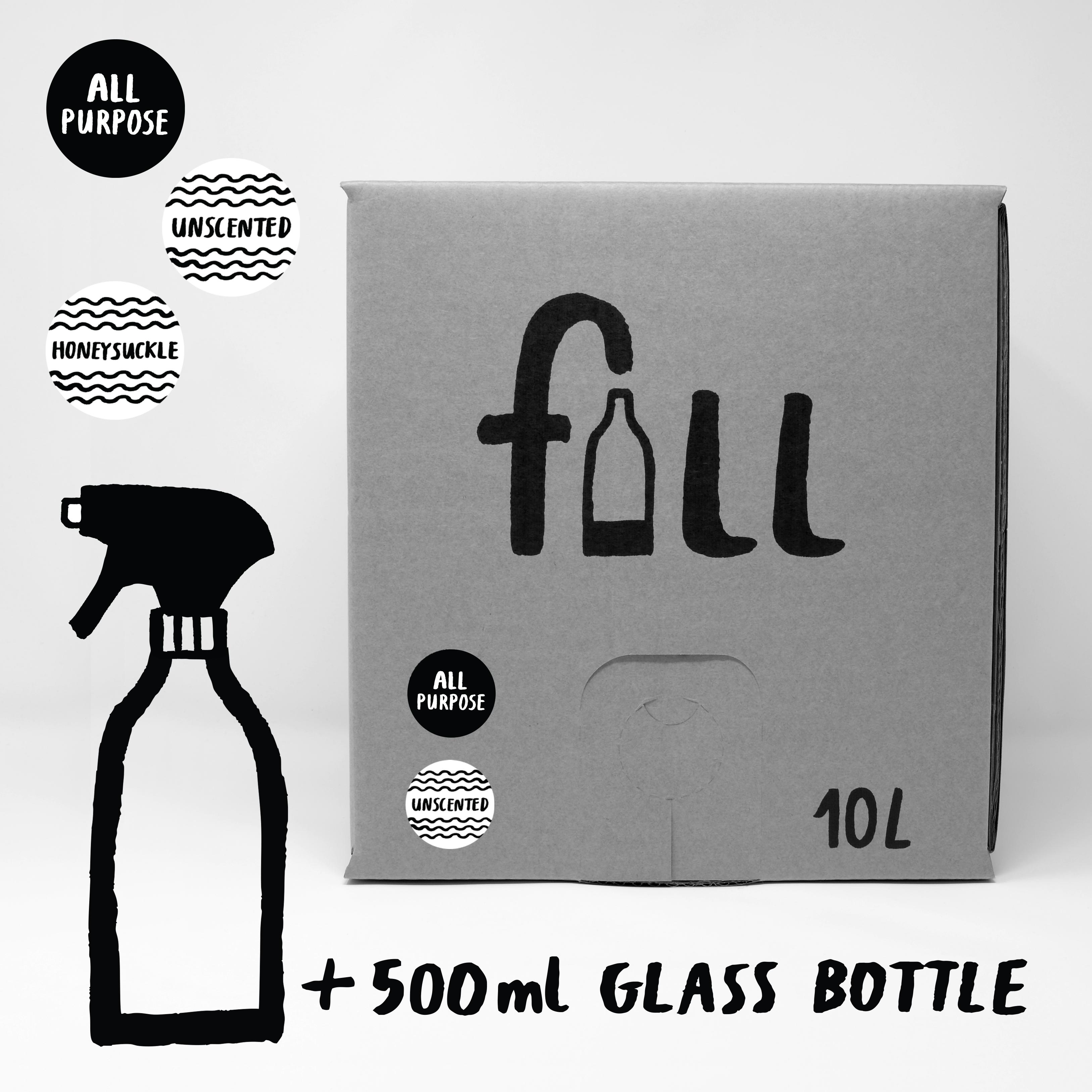 DO NOT USE Fill Refill Co All Purpose HoneySuckle Scented 500ml Full Bottle