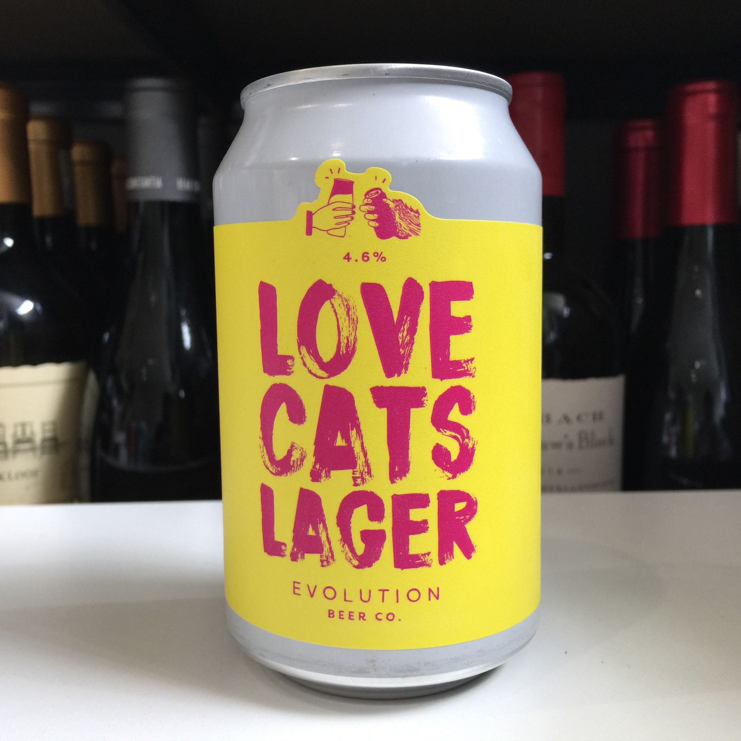 Evolution Beer 'Love Cats Lager' Lager 330ml 4.6% ABV