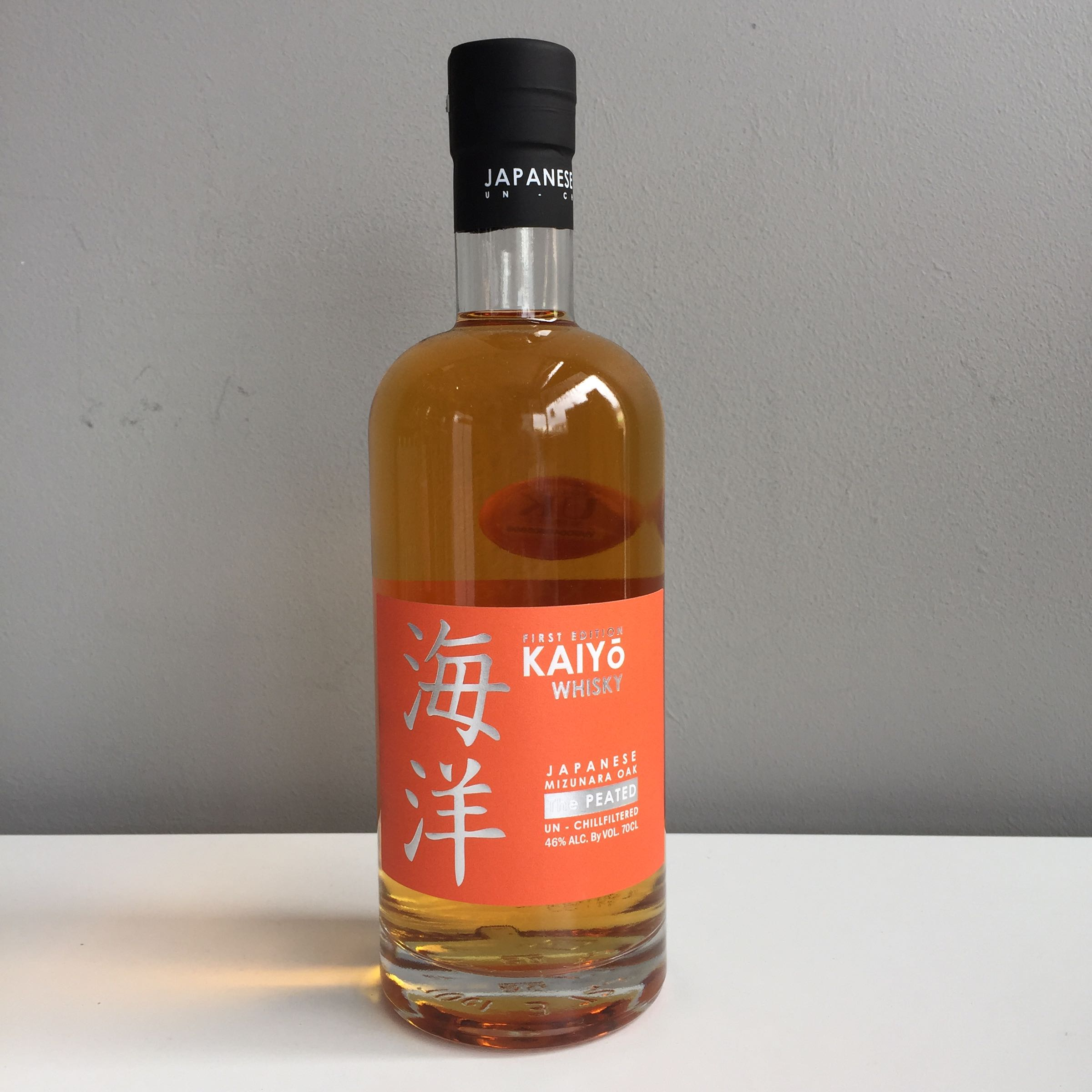 Kaiyo Whisky, Japanese Mizunara Oak, Peated 70cl 46% ABV