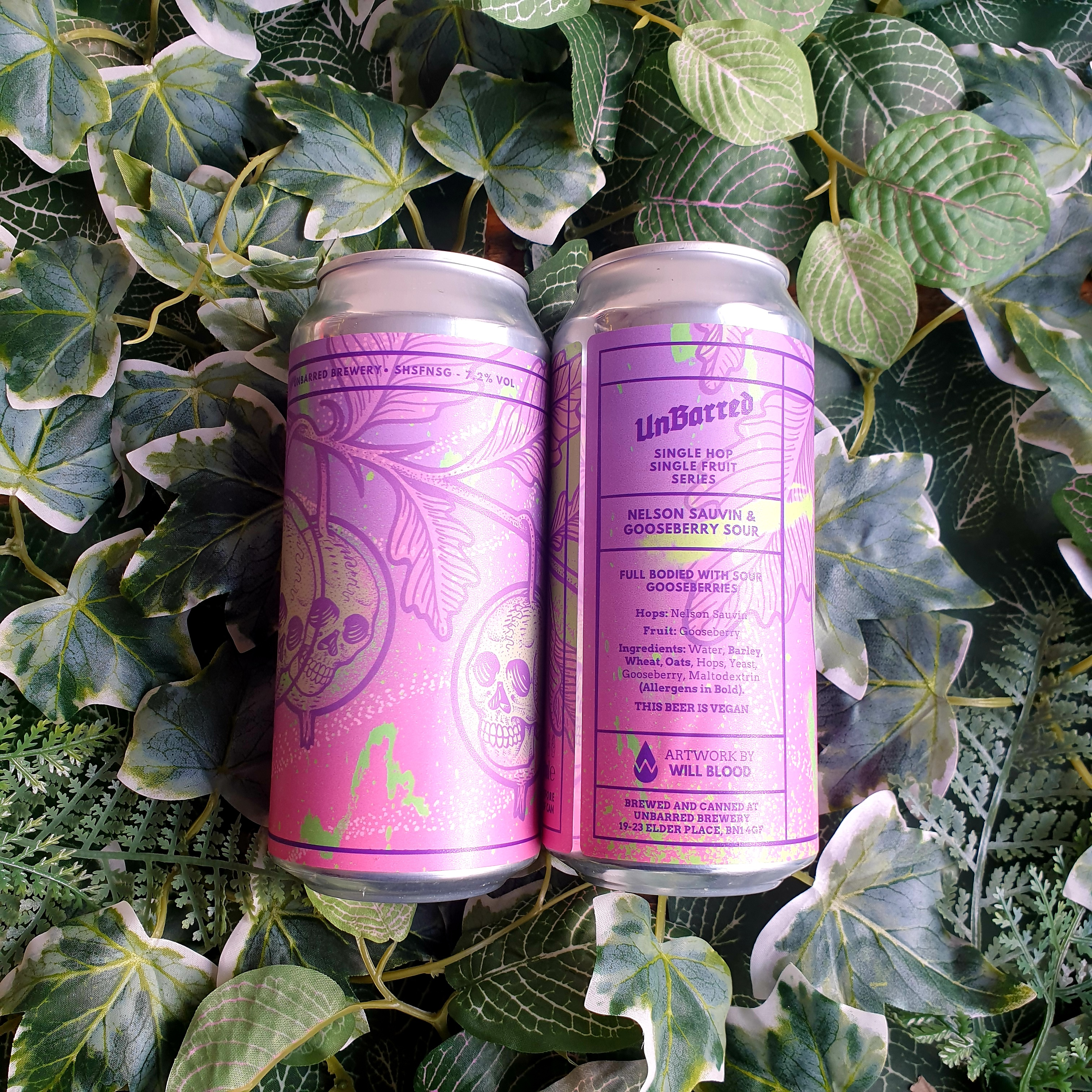 *Reduced - Short Dated* Unbarred - Nelson Sauvin & Gooseberry Sour 7.2%