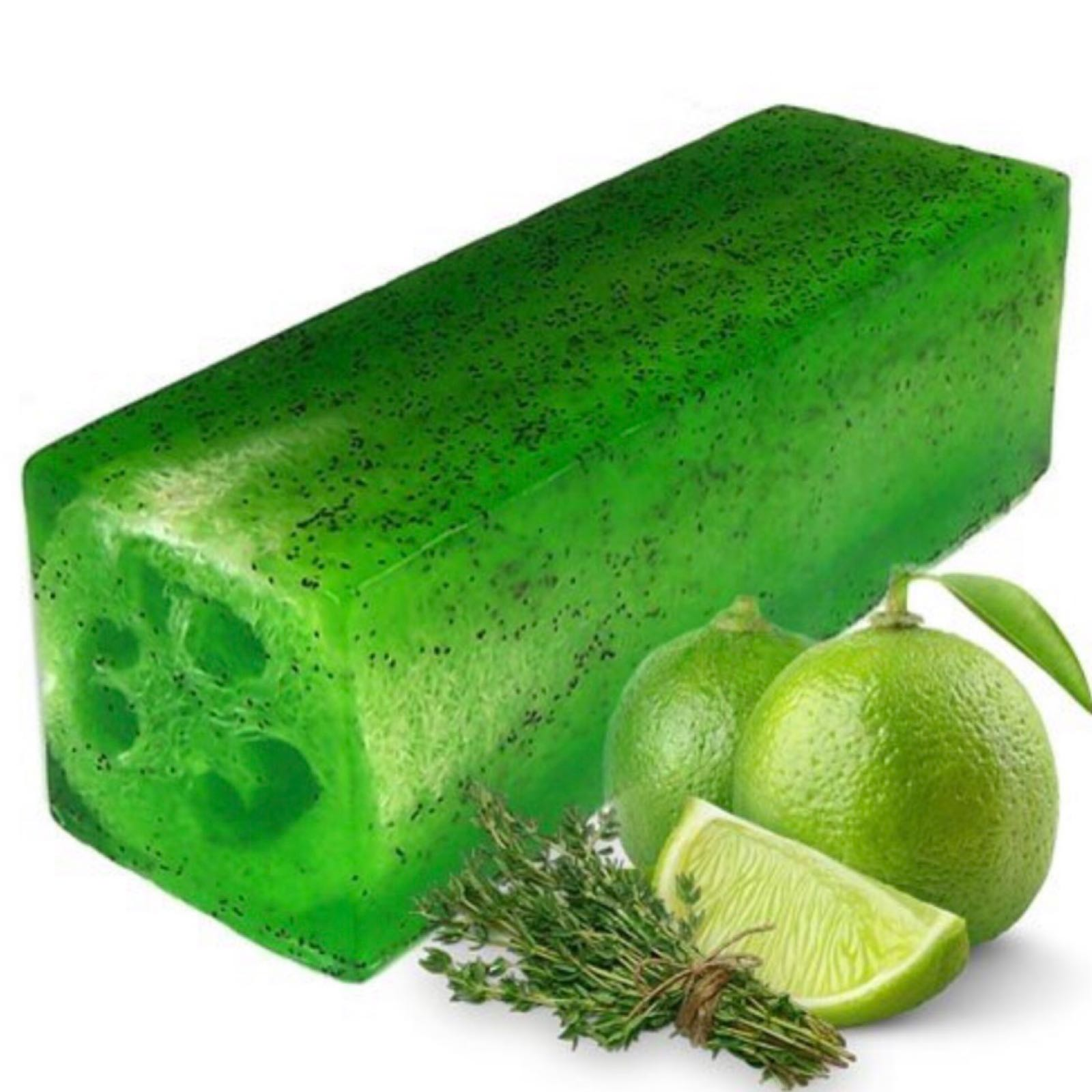Lime & Thyme Loofah Soap Slice