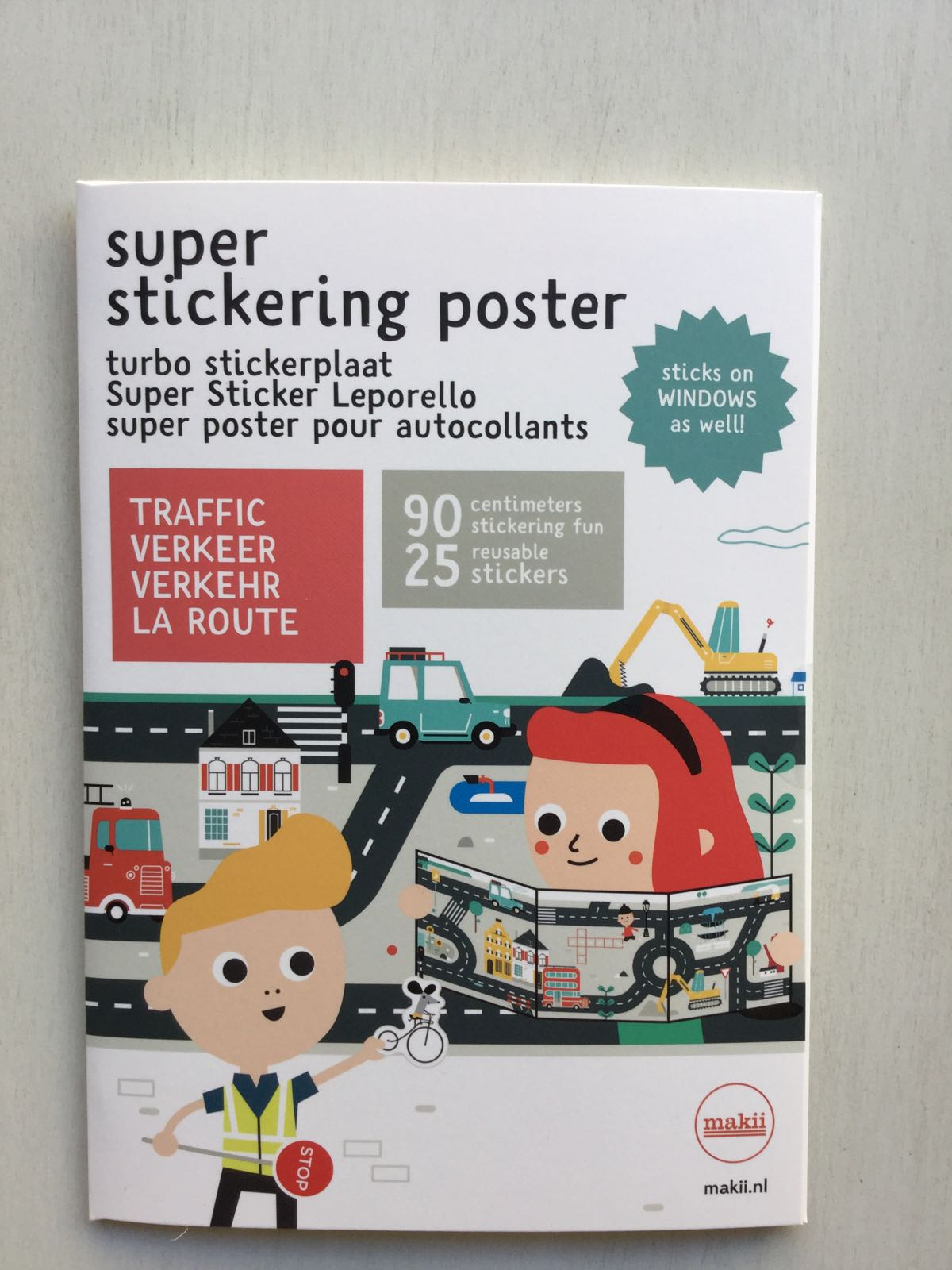 Makii - Super stickering poster - Traffic