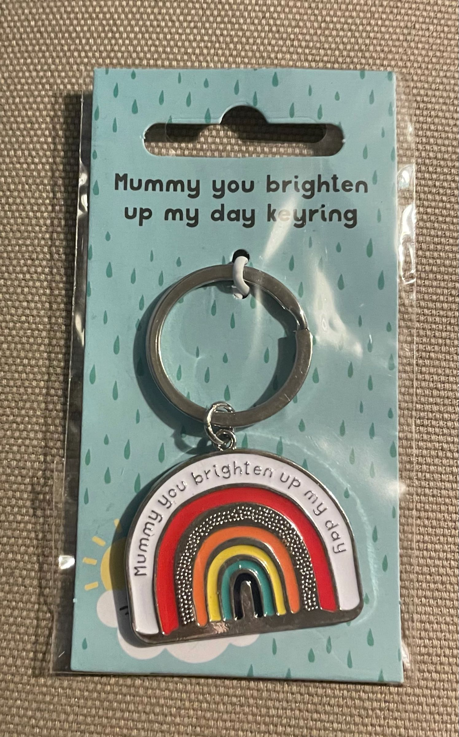 Mummy you brighten up my day Keyring