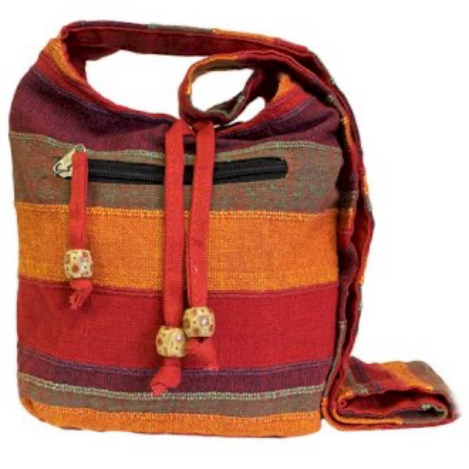 Sunset Reds Nepal Sling Bag