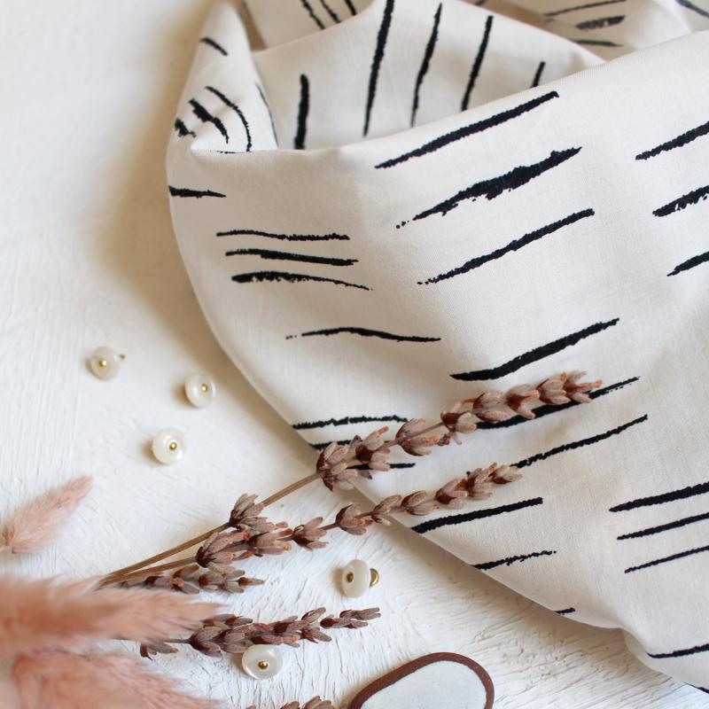 SAL Atelier Brunette Chalk Off White puuvillabatisti