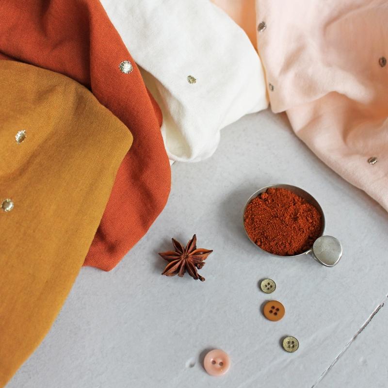 SAL Atelier Brunette Stardust Chestnut double gauze