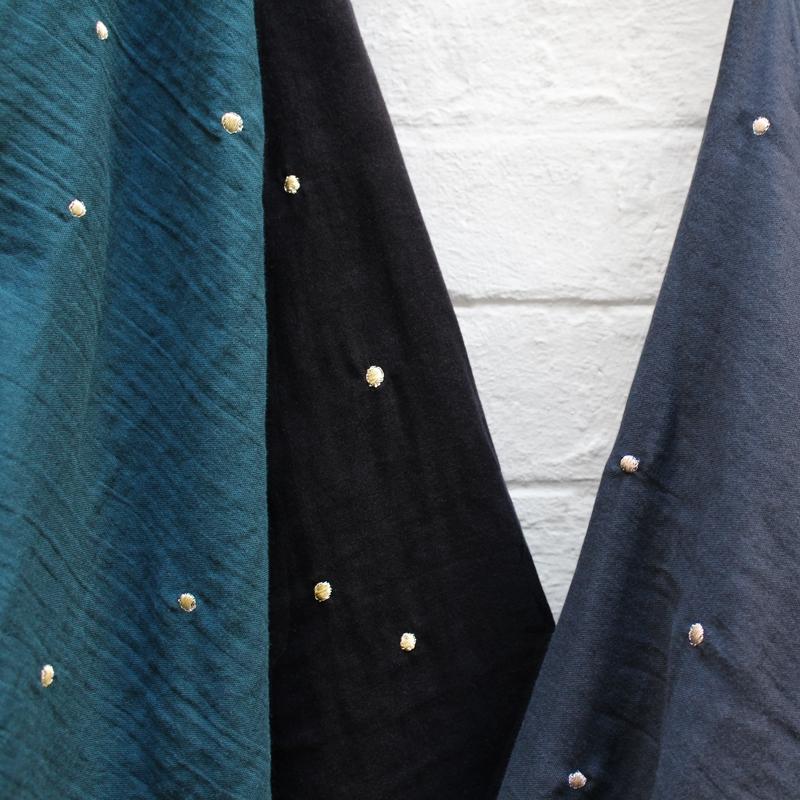 SAL Atelier Brunette Stardust Black double gauze