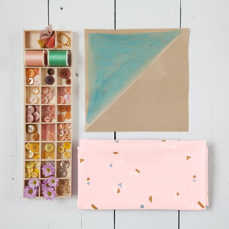 SAL Atelier Brunette Abstract nude puuvillabatisti