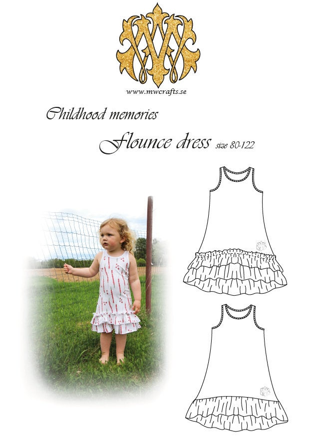 SAL -MWCrafts - Flounce dress